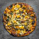 Vegetarian Pizza Top View on Slate - PhotoDune Item for Sale