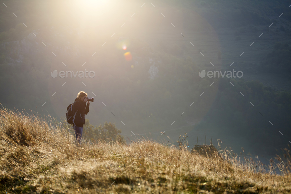 Photographer in the morning - Stock Photo - Images