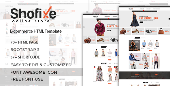 Shofixe - eCommerce Fashion Template - Fashion Retail