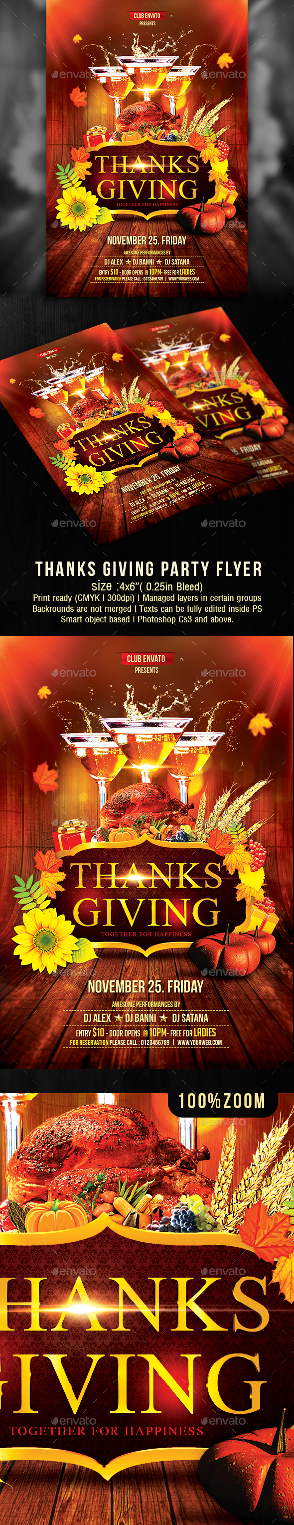 Thanks Giving Party - Clubs & Parties Events