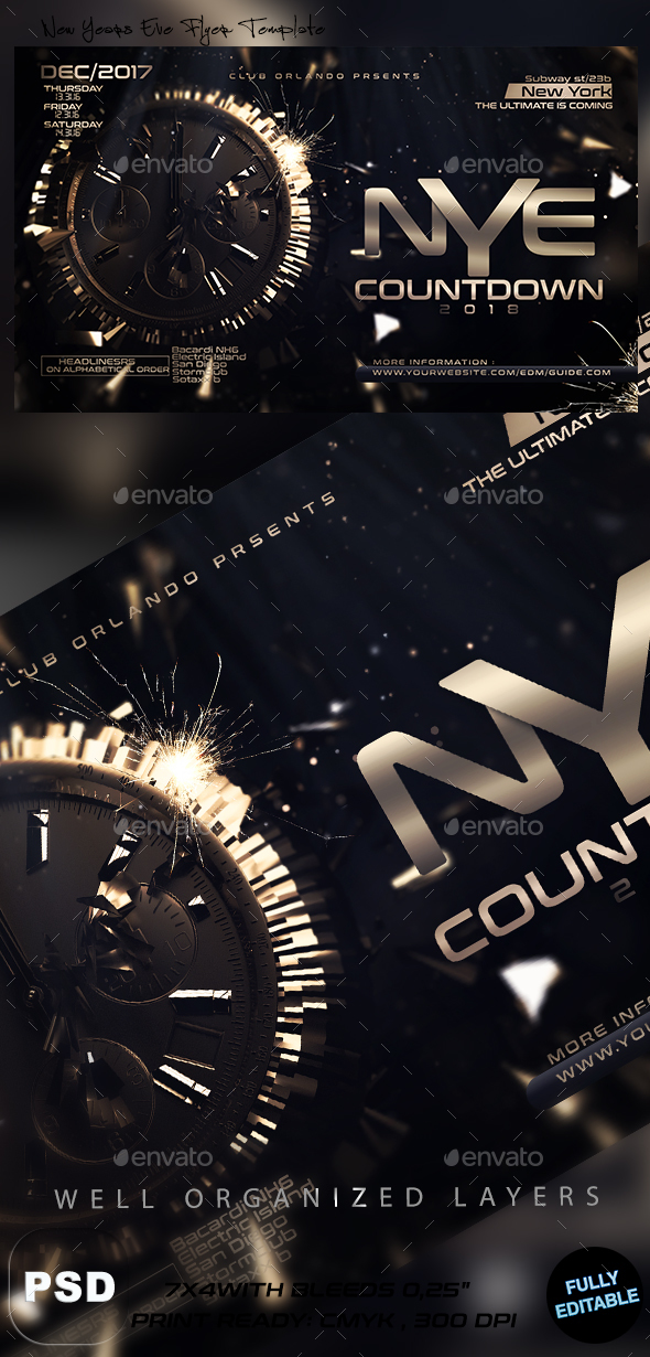 New Years Eve Flyer Template - Events Flyers