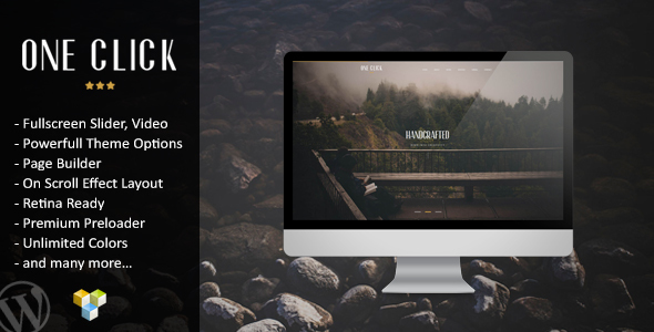 One Click – Parallax One Page Wordpress Theme - Portfolio Creative