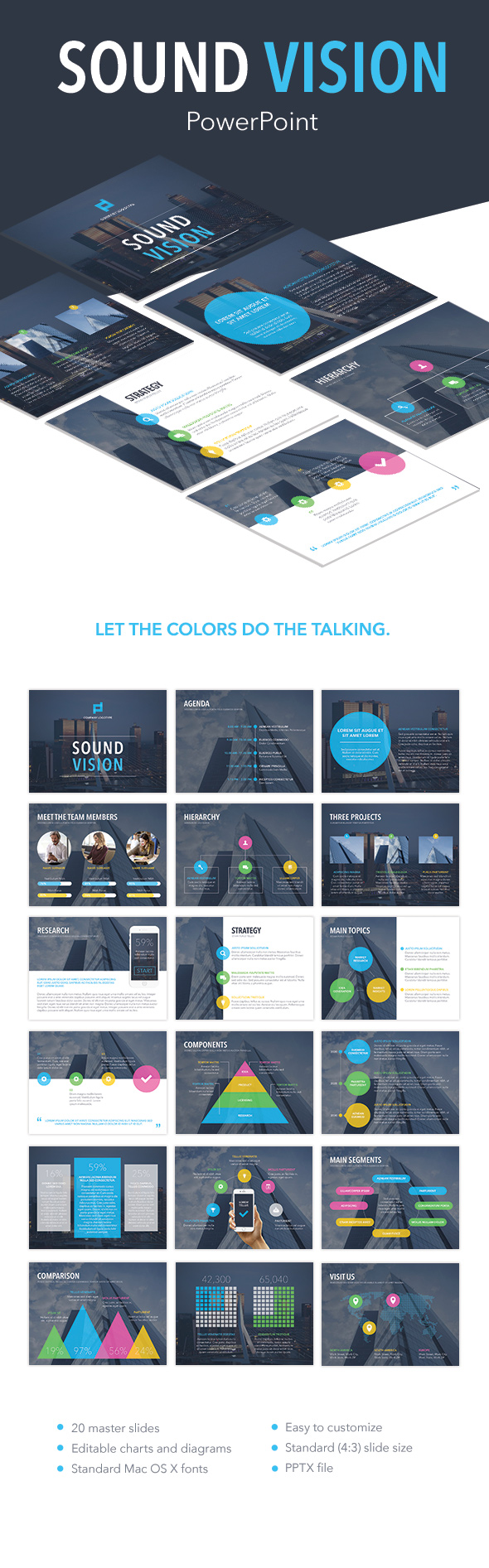 Sound vision powerpoint template by jumsoft graphicriver sound vision powerpoint template powerpoint templates presentation templates toneelgroepblik Choice Image