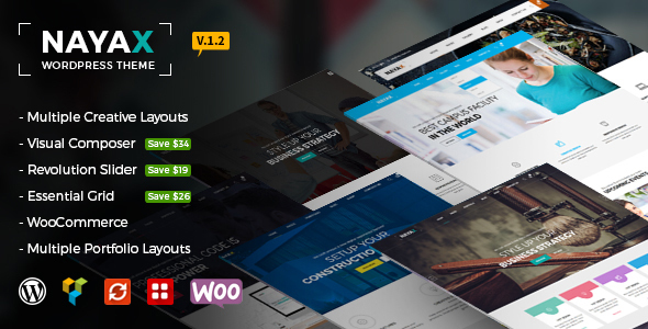 Nayax - Creative & Modern Multipurpose - Creative WordPress