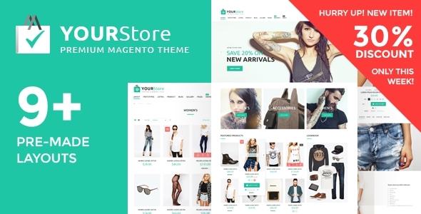 YourStore – Premium Multipurpose Magento theme