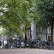 Amsterdam Street With Bicycles On Canal, Autumn, Netherlands - VideoHive Item for Sale