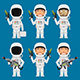 Astronaut Holding Futuristic Weapons - GraphicRiver Item for Sale