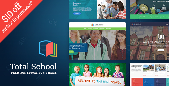 Total School – Primary, Secondary & High School Education WordPress Theme