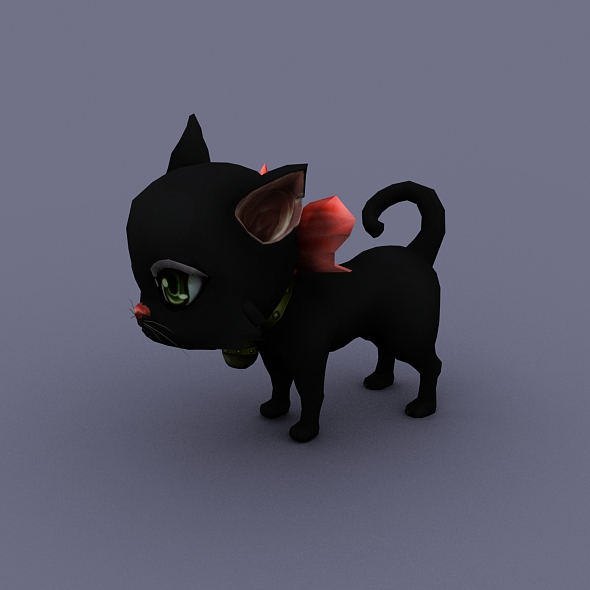 cat black - 3DOcean Item for Sale