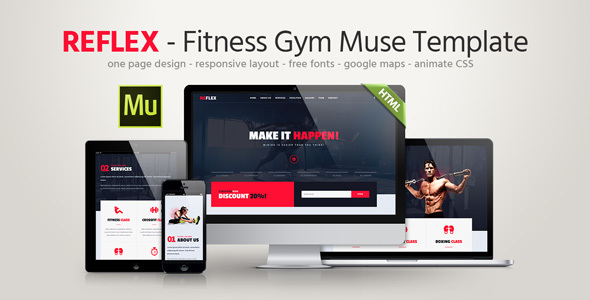Reflex – Fitness Gym Muse Template