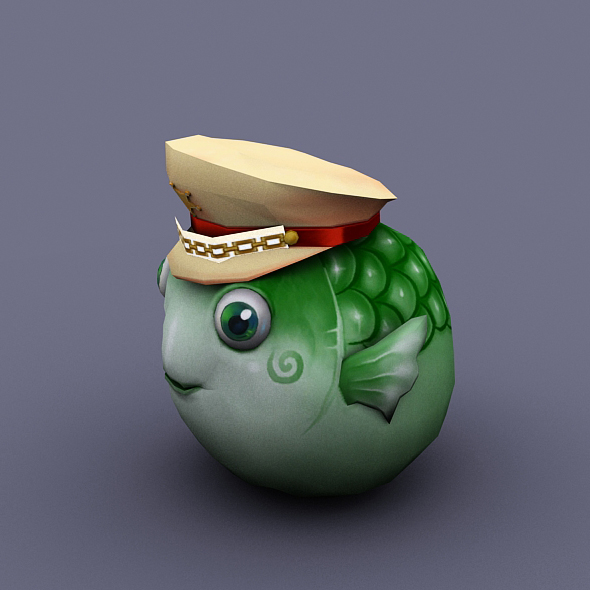 fish Ball green - 3DOcean Item for Sale
