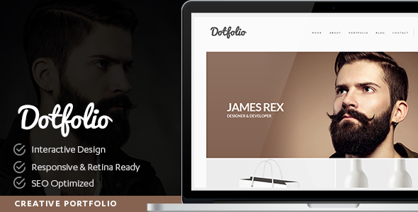 Dotfolio- Creative Portfolio for Creative People WordPress Theme - Portfolio Creative