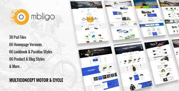 Ombligo Shop - Multi Concept Motor & Cycle PSD Templates - Retail PSD Templates