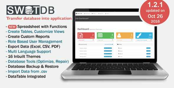 SWOT DB - Database  & Spreadsheet App - CodeCanyon Item for Sale