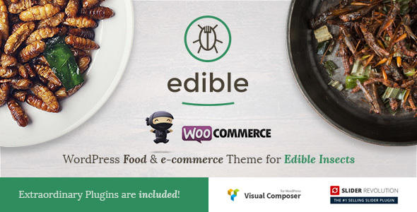 Edible - Wordpress Food & e-commerce Theme for Edible Insects - Food Retail