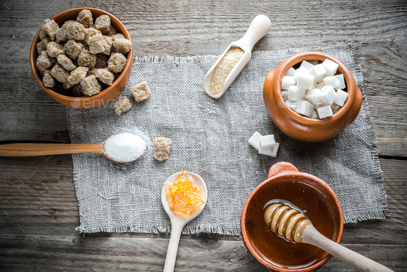Different types and forms of sugar - Stock Photo - Images