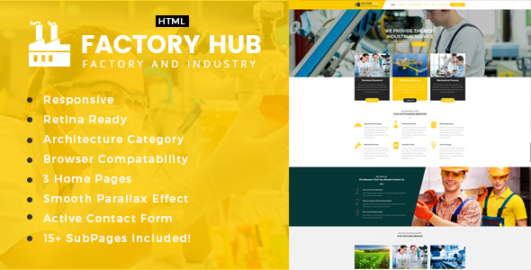 Factory Hub - Factory & Industrial Business Template - Business Corporate
