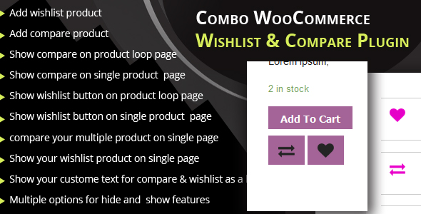 Combo WooCommerce wishlist & Compare plugin - CodeCanyon Item for Sale