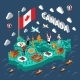 Canada Isometric Map - GraphicRiver Item for Sale