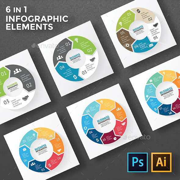 Circle arrows diagrams psd eps ai by graphicseamus graphicriver circle arrows diagrams psd eps ai infographics ccuart Image collections