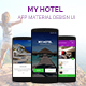 Hotel Booking Material  UI - GraphicRiver Item for Sale