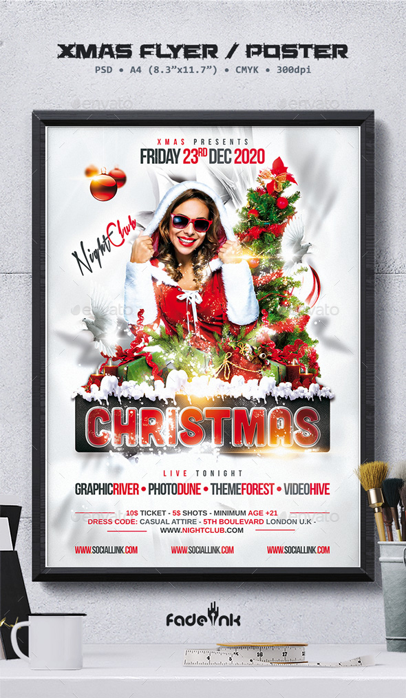 Christmas Party Flyer / Poster Template - Clubs & Parties Events
