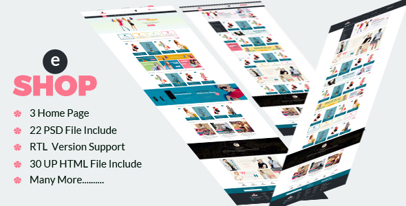 eShop-Multipurpose eCommerce HTML Template