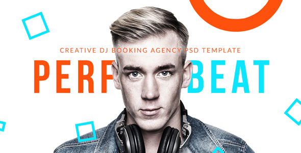 PerfectBeat - Creative DJ Booking Agency PSD Template - Nightlife Entertainment