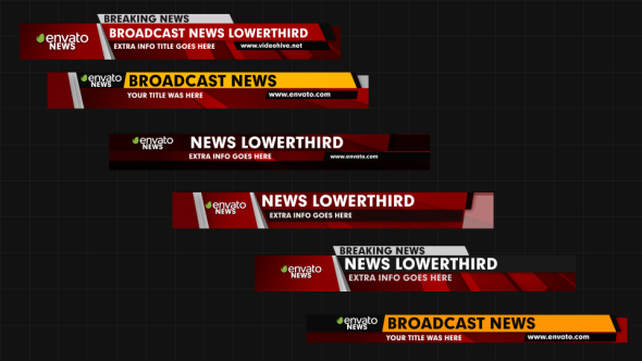News Lower Thirds By Graysolid