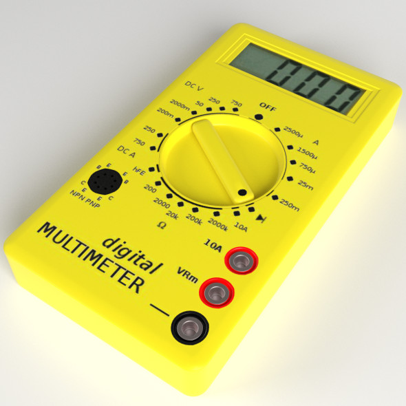 Digital Multimeter - 3DOcean Item for Sale