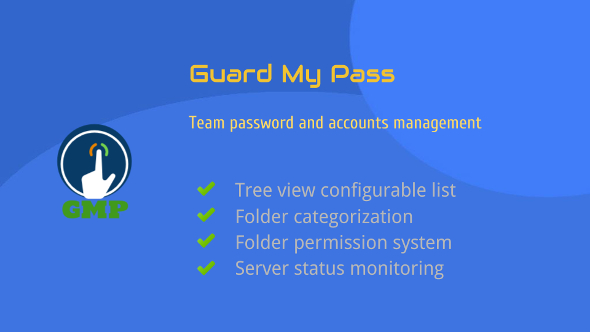 GuardMyPass - Accounts Management tool - CodeCanyon Item for Sale