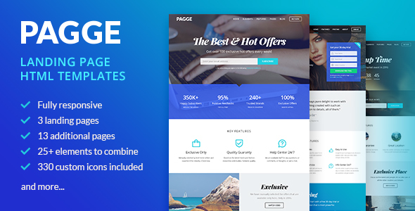 Pagge – Landing Page HTML Templates