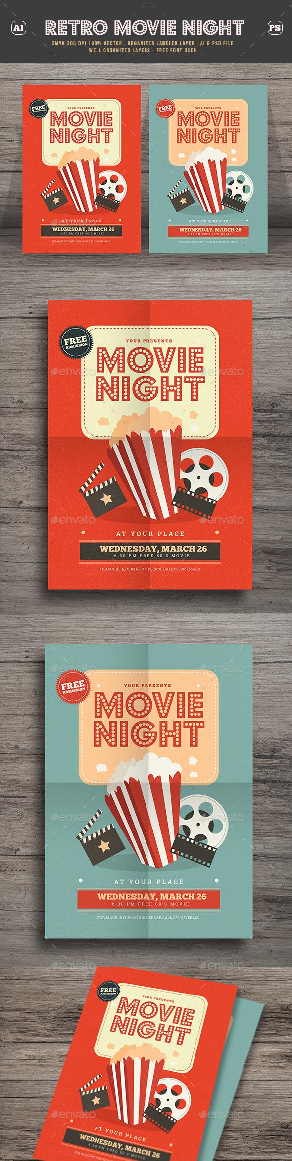Retro Movie Festival Flyer - Events Flyers