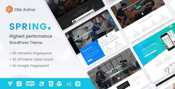 Spring - Highest Performance Multipurpose WordPress Theme - Corporate WordPress