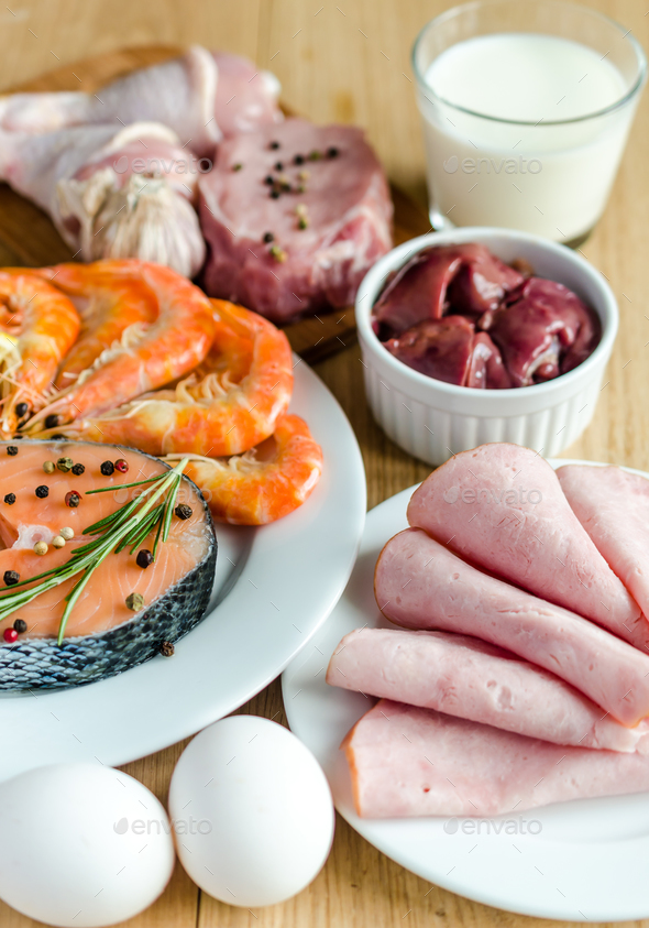 Ingredients for protein diet - Stock Photo - Images