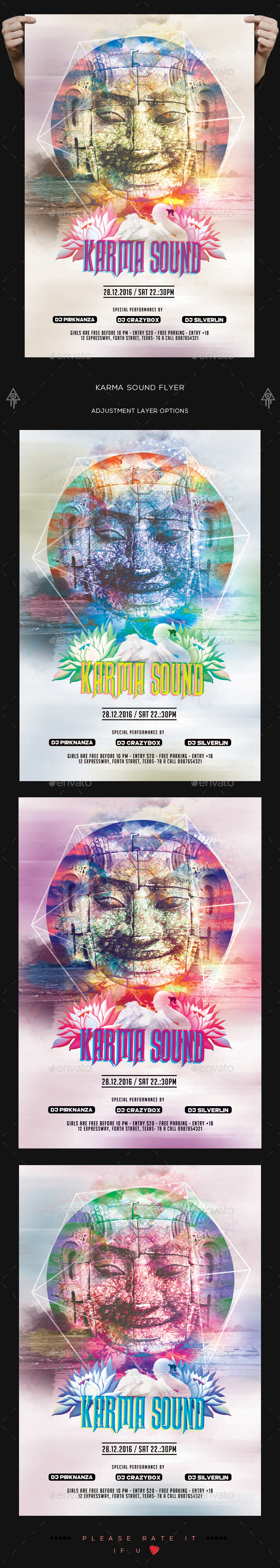 Karma Sound Flyer - Clubs & Parties Events