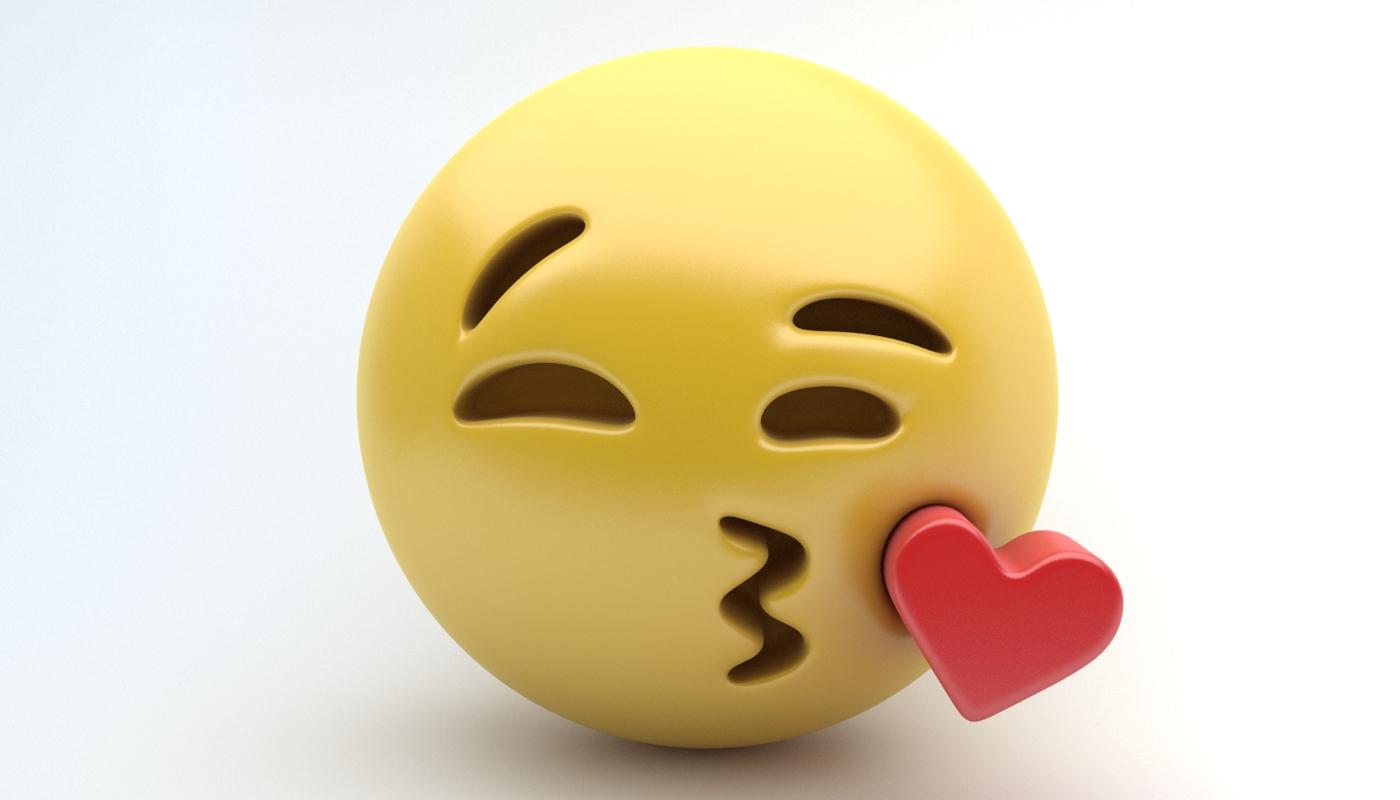 Emoji kissing