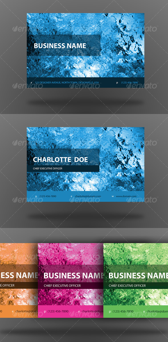 Glacier Business Cards - Creative Business Cards