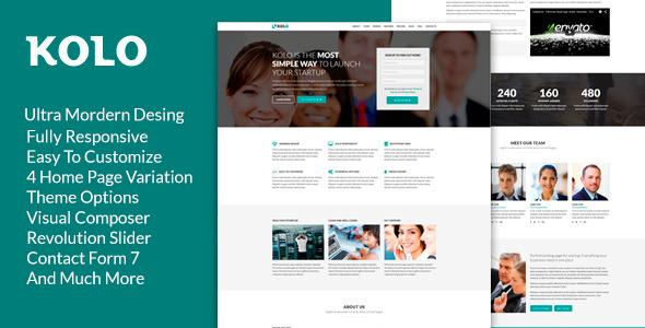 Kolo –  Startup Landing Page WordPress Theme