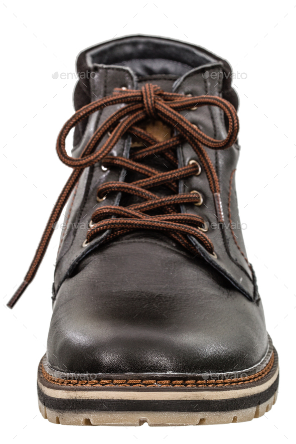 A single new of boot, isolated on white background - Stock Photo - Images