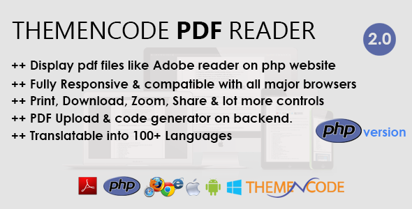 ThemeNcode PDF Reader - PHP Script - CodeCanyon Item for Sale