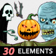 Halloween Horror Theme 30 Elements - VideoHive Item for Sale