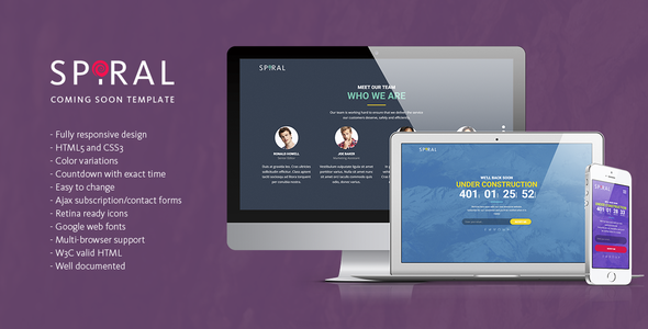 Spiral – Under Construction Page Template