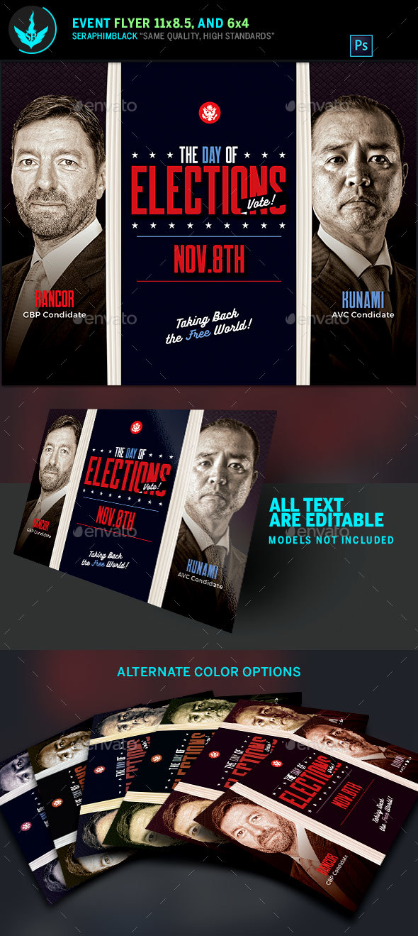 Election Flyer Template - Corporate Flyers