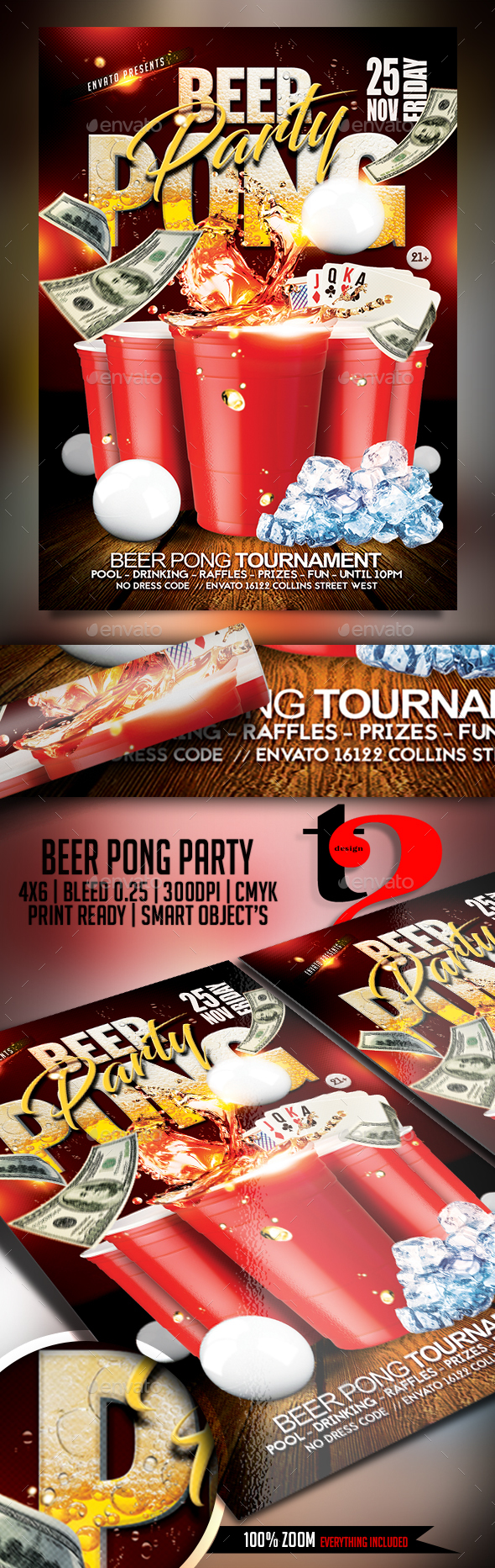 Beer Pong Tournament Flyer - Clubs & Parties Events