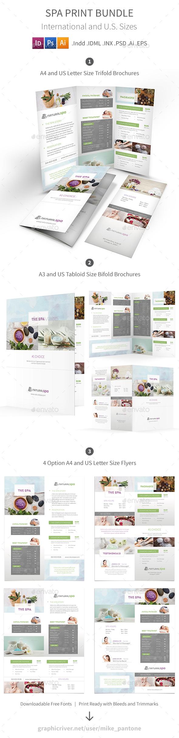 Spa Print Bundle 6 - Informational Brochures