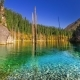 Kaindy Lake In Autumn In Mountains Kazakhstan.   - September 2016, Almaty And Astana, Kazakhstan - VideoHive Item for Sale