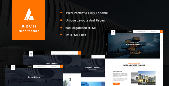 Arch – Onepage HTML Template