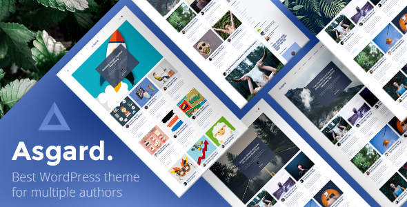 Asgard –  Multi Authors Magazine/News WordPress Theme