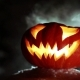 Burning Pumpkin On Halloween. Looped - VideoHive Item for Sale